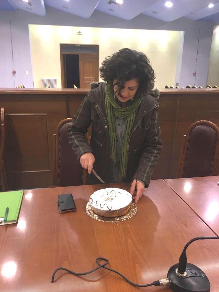 Κοπή πρωτοχρονιάτικης πίτας για το Τοπικό Συμβούλιο Αστακού.